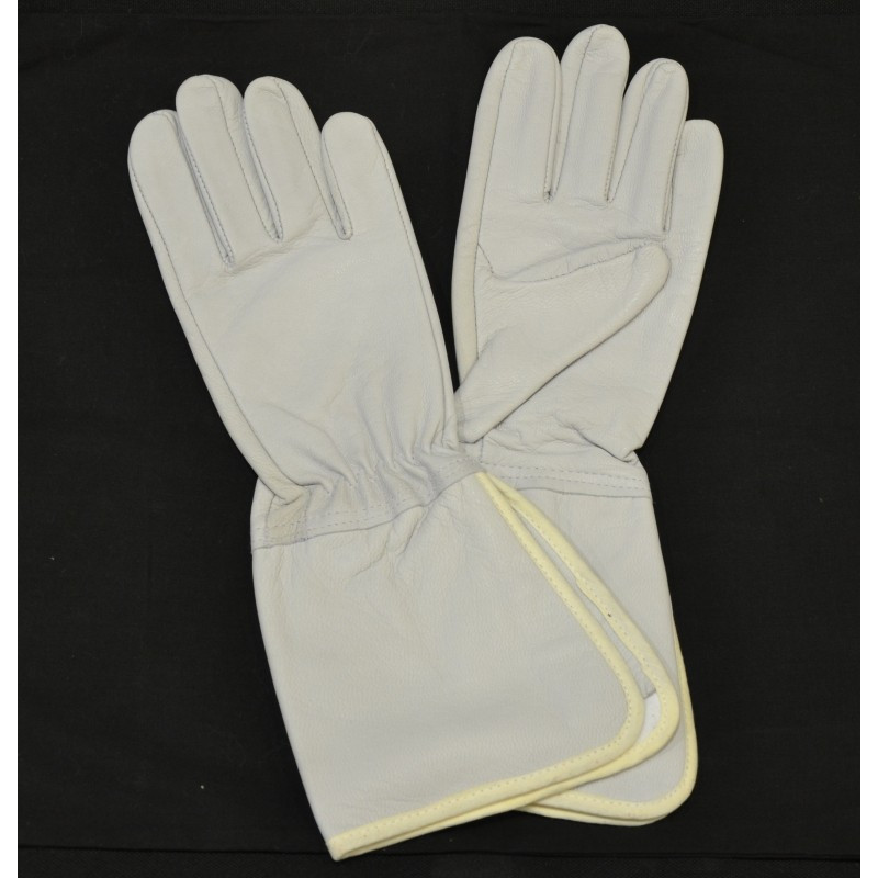 Gants cuir blanc